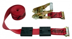 Low Profile Tire Block Strap w/ Ratchet / E-Track