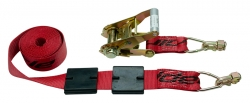 Low Profile Tire Block Strap w/ Ratchet / L-Track