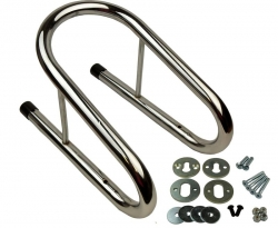 "M&R Products Removable Wheel Chock -  5.5"" Wide (CHROME)"