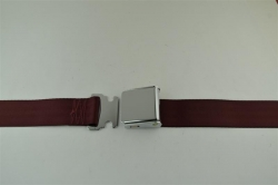"Maroon 60"" Chrome Lift Buckle 2 Point Seat Belt"