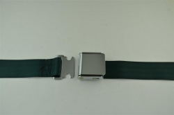 "Dark Green 60"" Chrome Lift Buckle 2 Point Seat Belt"