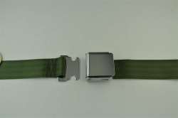 "Green 60"" Chrome Lift Buckle 2 Point Seat Belt"