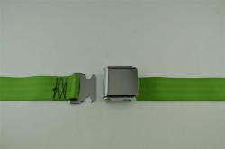 "Lime Green 60"" Chrome Lift Buckle 2 Point Seat Belt"