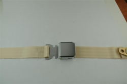"Ivory 60"" Chrome Lift Buckle 2 Point Seat Belt"