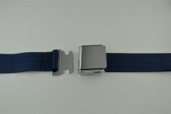 "Dark Blue 60"" Chrome Lift Buckle 2 Point Seat Belt"