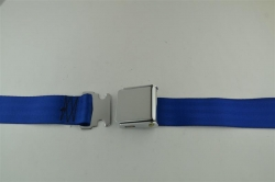 "Cobalt 60"" Chrome Lift Buckle 2 Point Seat Belt"
