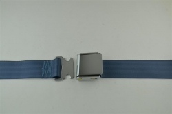 "Blue 60"" Chrome Lift Buckle 2 Point Seat Belt"