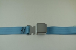 "Powder Blue 60"" Chrome Lift Buckle 2 Point Seat Belt"