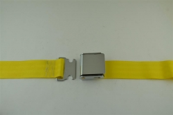 "Yellow 60"" Chrome Lift Buckle 2 Point Seat Belt"