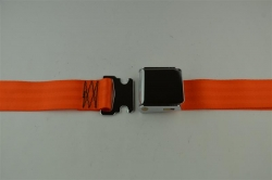 "Orange 72"" Chrome Lift Buckle 2 Point Seat Belt"
