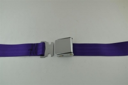 "Purple 60"" Chrome Lift Buckle 2 Point Seat Belt"